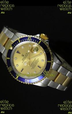 Rolex Submariner Gold Dial Swiss Replica Watch - 1:1 Mirror Replica Watch