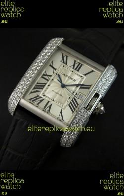 Cartier Tank Swiss Replica Watch 1:1 Mirror Replica Watch - Steel Casing