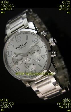 Mont Blanc Timewalker Ceramic Strap Inlays Watch in White - 1:1 Mirror Replica