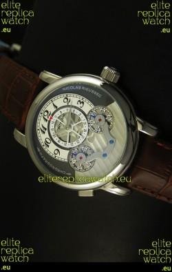 Mont Blanc Nicolas Riessec Stainless Steel Case in Grey Dial