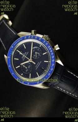Omega Speedmaster Moon Watch Co-Axial Japanese Replica Watch Dark Blue Dial