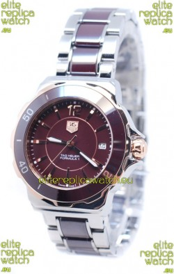 Tag Heuer Formula 1 Quartz Brown Ceramic Bezel Watch