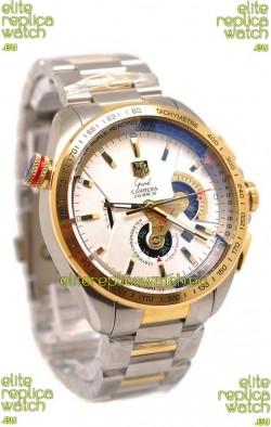 Tag Heuer Grand Carrera Calibre 36 Japanese Replica Two Tone Gold Watch