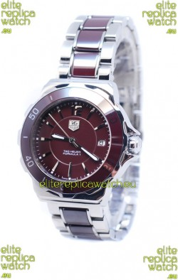 Tag Heuer Formula 1 Quartz Brown Ceramic Bezel Steel Watch