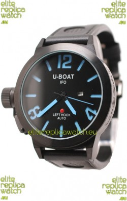 U-Boat Classico Japanese Replica PVD Watch in Blue Markers