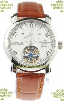 Vacheron Constantin Grand Complications Tourbillon Japanese Replica Watch in Brown Strap