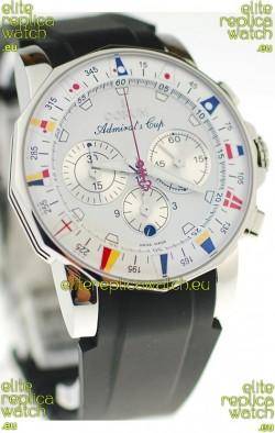 Corum Admirals Cup Chronograph Swiss Replica Watch in Rubber Strap