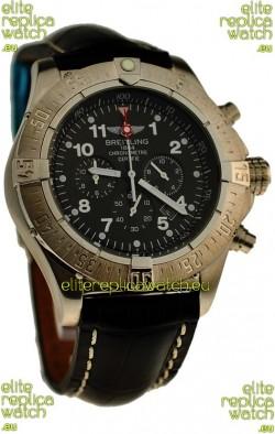 Breitling Chronograph Chronometre Japanese Watch in Black