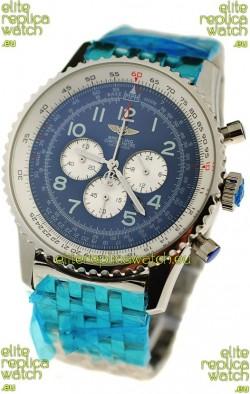 Breitling Navitimer Chronometre Japanese Watch in Blue Dial
