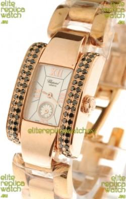 Chopard La Strada Swiss Ladies Replica Pink Gold Watch