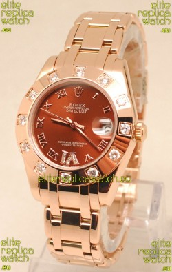 Rolex Datejust Rose Gold Japanese Replica Watch