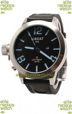 U-Boat Classico Japanese Replica Watch in Black Dial