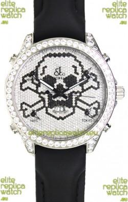 Jacob & Co. The Five Time Zone Skeleton Swiss Replica Watch in Diamonds