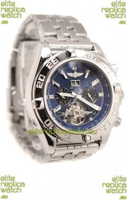 Breitling Chronograph Chronometre Replica Watch in Blue Dial