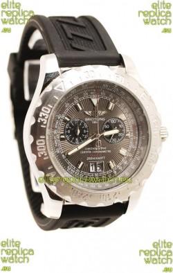 Breitling Chronograph Chronometre Replica Watch in Grey Dial
