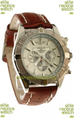 Breitling Chronograph ChronometreJapanese Replica Watch in Brown Strap