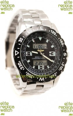 Breitling Chronograph Chronometre Replica Steel Watch in Ceramic Bezel