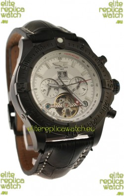 Breitling Chronometre Tourbillon Japanese Replica Watch in White Dial