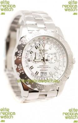 Breitling Chronograph Chronometre Replica Watch in White Dial