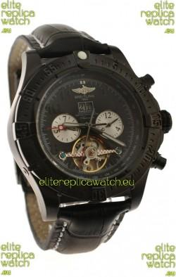 Breitling Chronometre Tourbillon Japanese Replica Watch in Black