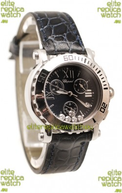Chopard Happy Sport Ladies Swiss Watch in Black Dial
