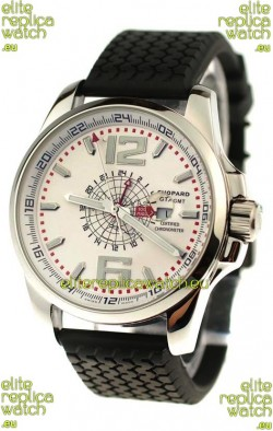 Chopard 1000 Miglia GT XL GMT Japanese Replica Watch in White Dial