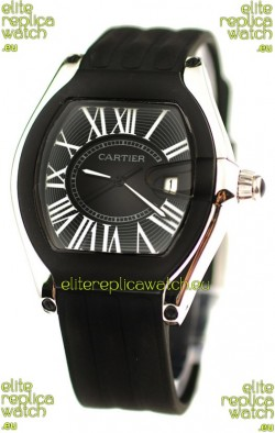 Cartier Roadster Japanese Replica Watch in Black