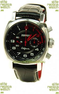 Ferrari by Panerai California Chronograph Swiss Replica Watch in Black Dial