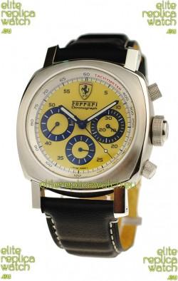 Ferrari by Panerai Scuderia Chronograph Swiss Replica Watch in Yellow Dial