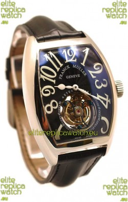 Franck Muller Aeternitas Tourbillon Swiss Replica Watch in Black Strap