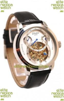 Glashutte Panaomatic Regulator Tourbillon Japanese Replica Steel Watch