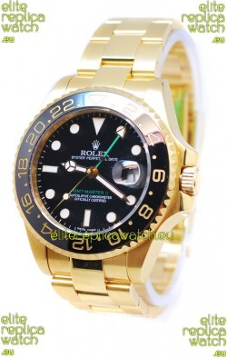 Rolex GMT Masters II 2011 Edition Japanese Replica Gold Watch