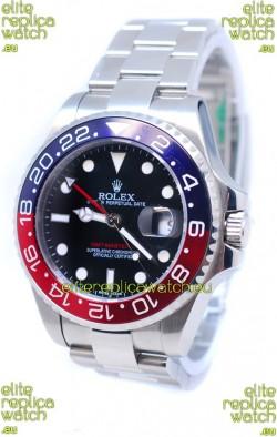 Rolex GMT Masters II 2011 Edition Swiss Replica Watch in Blue & Red Cerarmic Bezel