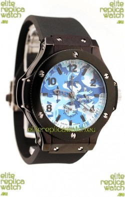 Hublot Big Bang Commando Blue Camouflage Japanese Watch