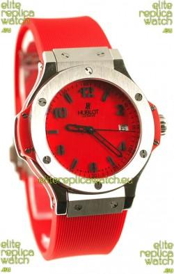 Hublot Big Bang Red Japanese Replica Watch in Swiss Casing