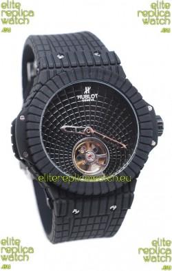 Hublot Black Caviar Tourbillon Japanese Replica Watch
