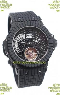 Hublot Black Caviar Tourbillon Power Reserve Japanese Replica Watch