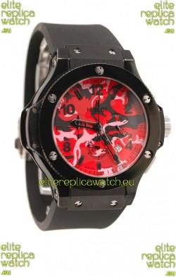Hublot Big Bang Commando Red Camouflage Japanese Watch