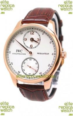 IWC Portuguese Regulateur Japanese Gold Watch