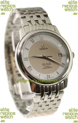 Omega Co-Axial Deville Japanese Steel Watch in Cream Dial