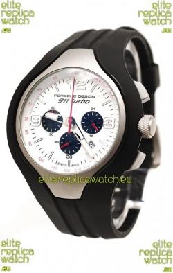 Porsche Design 911 Turbo Speed II Chronograph Japanese Watch in White Dial