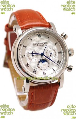 Patek Philippe Grand Complications Replica Watch in White Dial