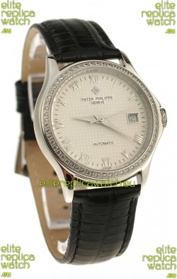 Patek Philippe Geneve Replica Watch in Roman Hour Markers