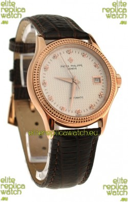 Patek Philippe Geneve Replica Pink Gold Watch