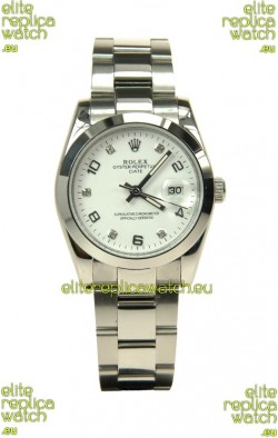 Rolex DateJust Mid-Sized Japanese Replica Silver Watch