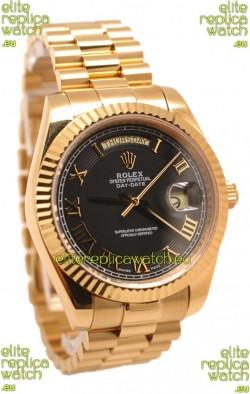 Rolex Day Date II Gold Japanese Replica Watch