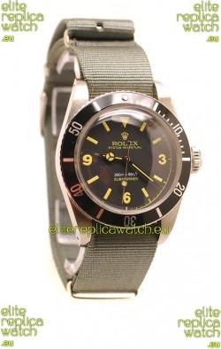 Rolex Submariner Swiss Watch Nylon Strap Watch