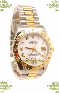 Rolex Datejust Mens Replica Two Tone Watch