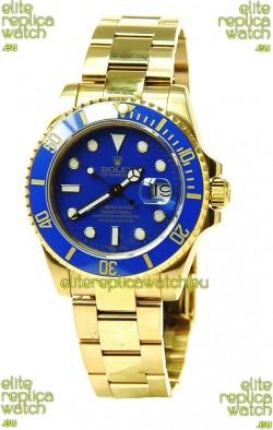 Rolex Submariner Swiss Replica Watch in Ceramic Bezel Gold Bezel