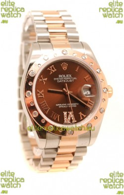 Rolex DateJust Mid-Sized Rose Gold Japanese Replica Watch